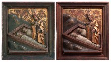 Restoration of 16th C. wood carving