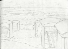 """Sketch of Beach at Katwijk aan Zee, Holland"""