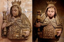 Before and after restoration of St. Margaret.