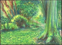 """Landscape Study at Monet's Garden, Giverny"""