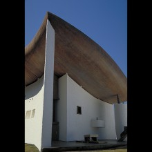 Scale Miniature of Le Corbusier's Chapel at Ronchamp